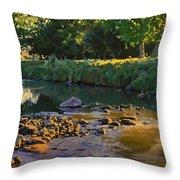 Riffles - First Light Throw Pillow