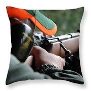 Rifle Training Throw Pillow