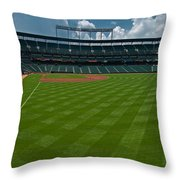 Right Field Of Oriole Park At Camden Yard Throw Pillow
