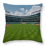 Right To Left At Oriole Park Throw Pillow