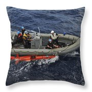 Rigid-hull Inflatable Boat Operators Throw Pillow