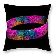 Ring Of Feathers 3d Throw Pillow