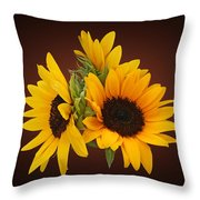 Ring Of Sunflowers Throw Pillow