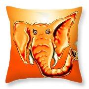 Ringo Party Animal Orange Throw Pillow