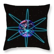 Rings Around The Earth Throw Pillow