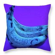 Ripe Bananas In Uv Light 22 Throw Pillow