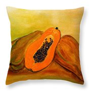 Ripe Papaya Throw Pillow