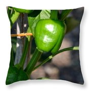 Ripened Peppers Throw Pillow