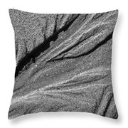 Ripples In The Sand Black And White Throw Pillow