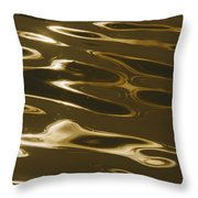 Ripples Of Water Reflect The Setting Throw Pillow