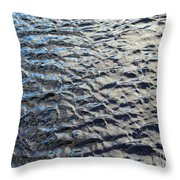Ripples On Big Water Throw Pillow
