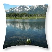 Ripples On Lake Of Mt Tallac Throw Pillow