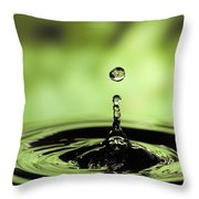 Ripples Radiating Out From Drop Throw Pillow