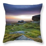 Rippon Tor II Throw Pillow by Sebastian Wasek