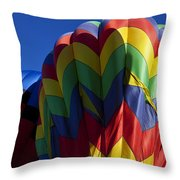 Rising Hot Air Balloons Throw Pillow
