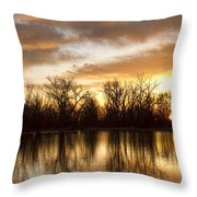 Rising Sun At Crane Hollow Throw Pillow