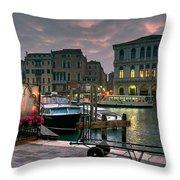 Riva Del Vin. Venezia Throw Pillow