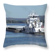 River Barge Throw Pillow