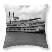 River Boat Queen Throw Pillow