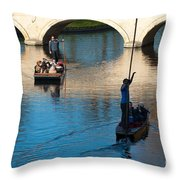 River Cam Traffic Throw Pillow