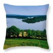 River Cruising, Upper Lough Erne Throw Pillow by The Irish Image Collection
