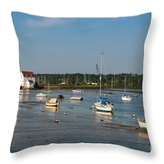 River Deben Estuary Throw Pillow