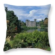 River In Front Of A Castle, Johnstown Throw Pillow