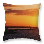 River Liffey, Dublin, Co Dublin, Ireland Throw Pillow