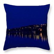River Lights Throw Pillow