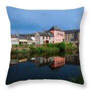 River Nore, Kilkenny, County Kilkenny Throw Pillow