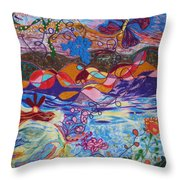 River Of Life Throw Pillow by Heather Hennick