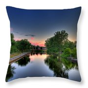 River Or Harbour Throw Pillow