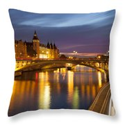 River Seine And The Concierge Throw Pillow