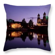 River Shannon, Athlone, County Throw Pillow