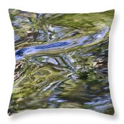 River Swirls - Abstract Throw Pillow