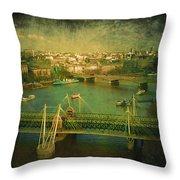 River Thames  Throw Pillow