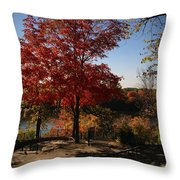 River Tree Throw Pillow