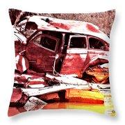River Wreck Ver2 Throw Pillow