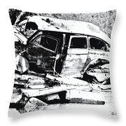 River Wreck Ver3 Throw Pillow