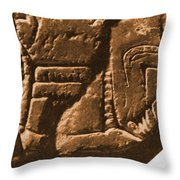 Riverboat On Ancient Seal Throw Pillow