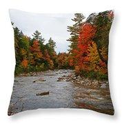 Rivers Run Through It..fall Brilliance Throw Pillow