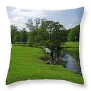 Riverside Meadows - Ashford-in-the-water Throw Pillow