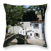 Riverwalk Bridge Throw Pillow