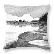 Riverwalk On The Pecos Throw Pillow
