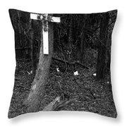 Road Death Cross- La Hwy 15- Louisiana Throw Pillow