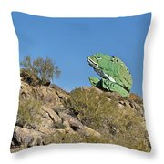Road Frog Throw Pillow