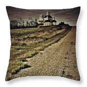 Road Of Prayers Throw Pillow