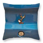 Road Runner Bird Emblem Throw Pillow