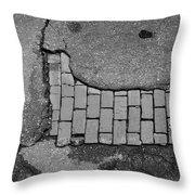 Road Textures Throw Pillow