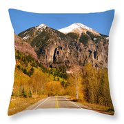 Road To Adventure Throw Pillow